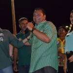 Dobradinha Ezequiel e Walter Alves faz grande comício em São Pedro, em plena quarta-feira .