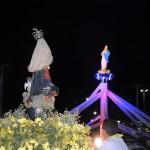 Macau: imagem da padroeira recebe nova iluminação na entrada da cidade.