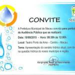 Entidades e órgãos são convocados pela prefeitura para debater a crise no abastecimento de água.