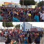 Moradores foram às ruas protestar contra a falta de abastecimento de água.