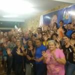 Reunião das mulheres do PSD superlotam a casa do candidato a prefeito Túlio Lemos.