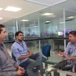Tulio, visita a Inter TV Cabugi filial da Globo e Portal G1-RN.