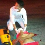 Acidente entre carro e moto deixa duas vitimas em estado grave em Guamaré.