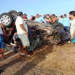 Grave acidente na BR 406 próximo a Jandaíra deixa um morto e quatro feridos em estado grave